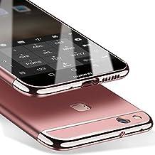 Cover Huawei P10 Lite 5,2 pollici, MSVII® 3-in-1 Design PC Custodia Cover Case e Pellicola Protettiva Per Huawei P10 Lite 5,2 pollici (Non compatibile con Huawei P10) - Oro Rosa JY50022