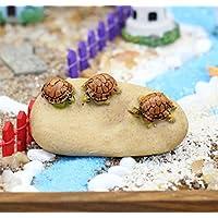 Komener Aquarium Ornament La Tortuga de Hadas del jardín adorna la Tortuga en la Piedra para la decoración del Paisaje del Acuario