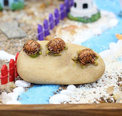 Aquarium-Dekor Fee-Garten-Schildkröte verziert Schildkröte auf dem Stein für Aquarium-Landschaftsdekor für Ihr Zuhause von ZFFde