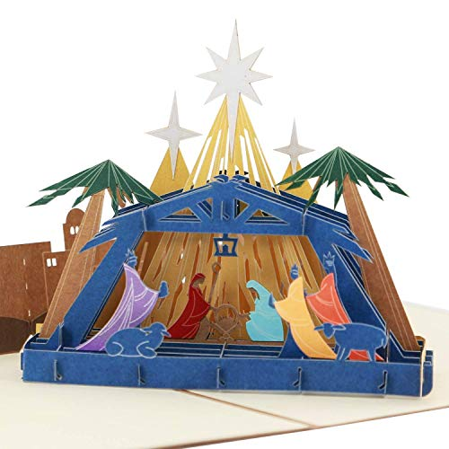 3D Weihnachtskarte - Geburt Jesu - Pop-Up-Karten, religiös, Grußkarte von SolarMatrix (Sabuda Popups)