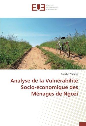 Analyse de la Vulnérabilité Socio-économique des Ménages de Ngozi par Sanctus Niragira