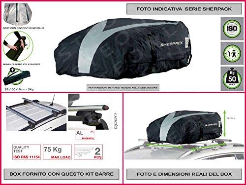box-portatutto-auto-in-tela-resistente-morbido-in-kit-comprese-barre-portatutto-portapacchi-ford-fre