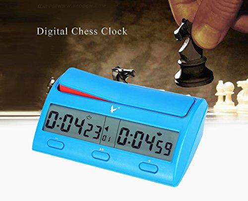 CFtrum Professionnel Numérique Jeu Horloge d'échecs / Chess Clock / Pendule d'échecs / Display Digital Compteur d'Échecs Compte à Rebours Jeu Count Chronomètre vers Le Bas Minuteur Fonction d'Alarme