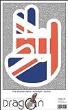 The Shocker Hand Aufkleber Decal Sticker 15cm Autoaufkleber außenklebend weißer Umriss mit Fahne UK - United Kingdom - Großbritannien