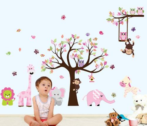 bosque-de-monos-de-animal-de-la-selva-la-ardilla-y-el-juego-de-columpio-buho-en-hojas-de-colores-tre