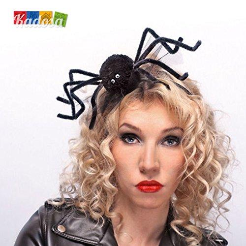 Haarreifen mit Riesen- Spinne Karneval Fasching Halloween