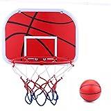 Kinder Mini Basketballkorb Spielzeug Set Indoor Hängen Montiert Basketball Board Kid Indoor Mini Basketball Hoop Toy Set mit Spielzeug Basketball Luftpumpe Kinder Spiel Spielzeug fürs Zimmer mit Ball