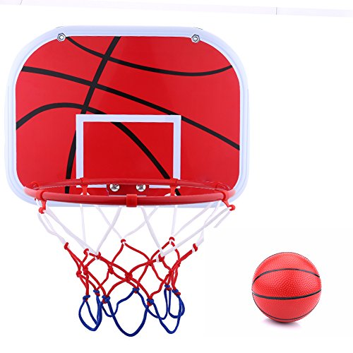 Alomejor Mini Basketball Korb Mini Basketball Netball Hoop Set mit Ball und Pumpe für Office-Spiel Kinder Kinder Spiel Indoor - Ball Basketball-spiel