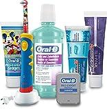 Oral-B Mundpflege-Paket, Kinderzahnbürste, Zahncreme, Mundwasser und Zahnseide, 10-teilig