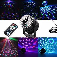 Geepro mini discoteca DJ Luci da palco 3W il LED RGB attivato suono magico di cristallo rotante sfera Luci Effetto Per KTV Xmas Party Wedding Show Club Bar Cambiare colore di illuminazione con telecomando