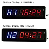 HIIT Crossfit Fitness Intervall Training Timer Best for Gym/Boxing/Running/Kettlebells Cardio and Tabatha Workouts/W Remote Larger LED Digital Wall Clock Modern Design Home Decor - 2