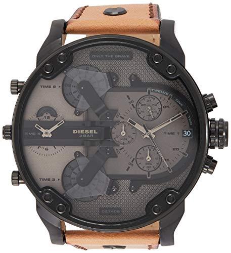 Diesel Herren Chronograph Quarz Uhr mit Leder Armband DZ7406