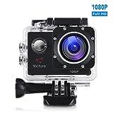 Victure Action Kamera 12MP 1080P FHD Unterwasserkamera Wasserdichte Helmkamera mit 170 Weitwinkel,...