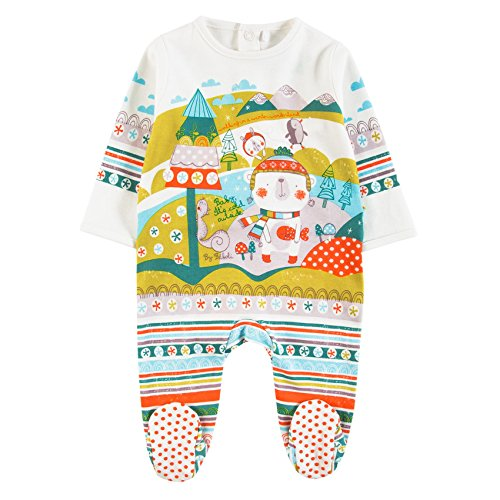 Boboli Interlock Play Suit For Baby, Body Unisex-Bimbi, Elfenbein (Off White 1111), 12 Mesi