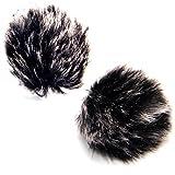 (2 Unidades) Nicama Alta calidad Furry Outdoor Micrófono Parabrisas Muff para Lavalier micrófonos