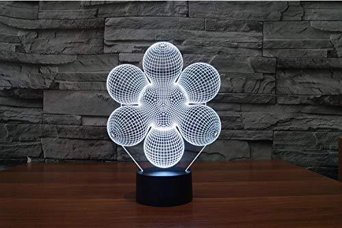 er Abstrakte 3D Led Lampe 7 Farben Ändern Usb Touch Button Kreative Design Illusion Nacht Lampe Für Home Office Raum Thema Dekoration ()