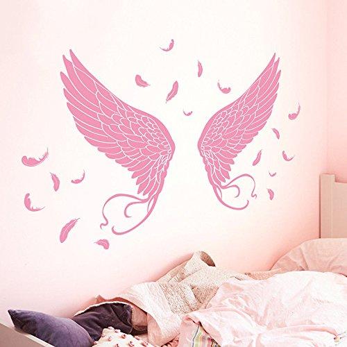 Bomeautify Kunst Flügel Wandaufkleber Papier Aufkleber Zimmer Schlafzimmer Wandgestaltung Romantik...