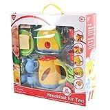 PlayGo 3710 - Spielküche Toaster, Wasserkocher, Geschirr und Frühstück Set, 21 teilig