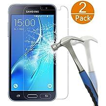 [2-Unidades] Samsung Galaxy J3 2016 Protector de Pantalla, Y-ouni Cristal Templado Galaxy J3, Espesor 0,26 mm, 2.5D Round Edge, [9H Dureza] [Alta Transparencia] [Ultra Resistente a Golpes y Rayado] [Sin burbujas] [Ajuste Perfecto] [Garantía de por Vida] Protector Cristal Vidrio Templado para Samsung Galaxy J3