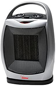 Bimar S223A.EU Grey 1800W Fan electric space heater - electric space heaters (Fan, Floor, Grey, Ceramic, Buttons, Rotary, 1800 W)