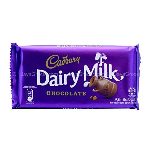 Mondelez Cadbury Dairy Chocolate Milk Bar, 165g