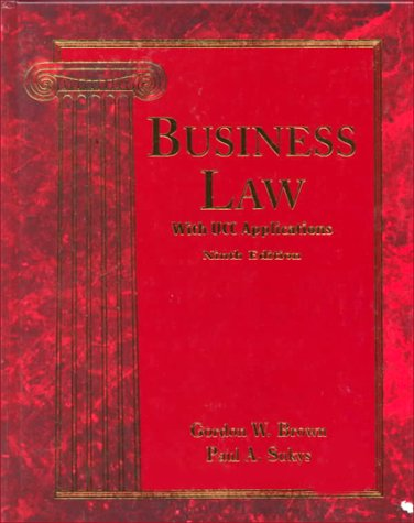 Business Law: With Ucc Applications