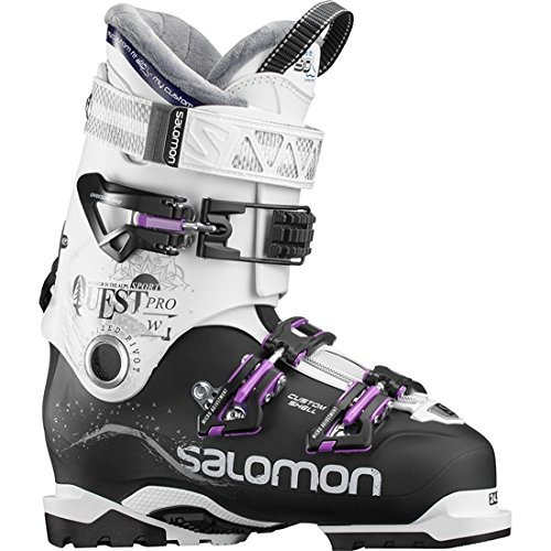 SALOMON Damen Quest Pro CS 90 Skistiefel Schwarz/Weiß/Lila 25.5 (Salomon Alpin-ski-stiefel)