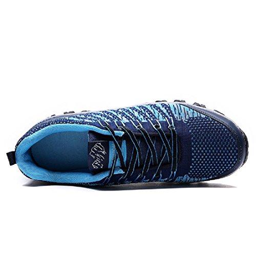 Hommes Chaussure de basket-ball Respirant Chaussures de sport Randonnée Chaussures de voyage Baskets Formateurs De plein air Entraînement Blue