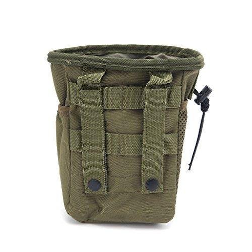 Jiamins Outdoor Utility Pouch Tasche Airsoft Militär Molle Gürtel Taktische Dump Drop Tasche (Armeegrün)