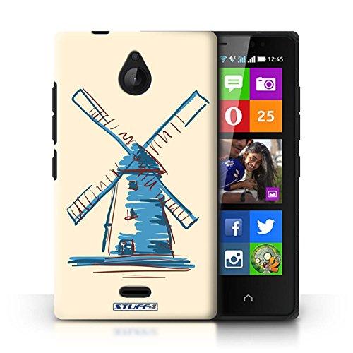 Kobalt® Imprimé Etui / Coque pour Nokia X2 Dual Sim / Moulin/Hollande conception / Série Monuments Moulin/Hollande