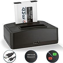 Batteria + Caricabatteria doppio (USB) per Panasonic DMW-BCM13 / DMC- ZS30, ZS35, ZS40, ZS45, ZS50, ZS60, ZS100 / DMC-TZ37.. - v. lista