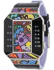 "Binary THE ONE ""Split Screen"" SC125B1 - Reloj de caballero de cuarzo, correa de piel color negro"