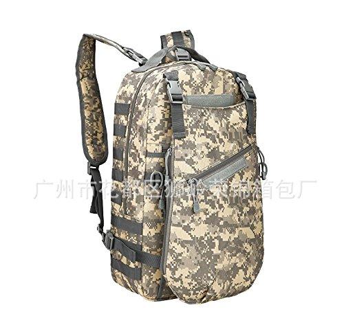 Outdoor zaino Travel Pack Escursionismo camp per uomini e donne borse tracolla 50*32*23cm, jungle camouflage AUC COLORE