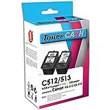 Pack de 2 Cartouches Compatibles CANON PG-512 + CL-513