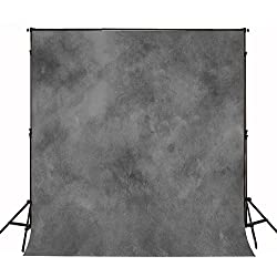 KateHome PHOTOSTUDIOS 2×3m Photographie Abstraite Toile de Fond Texture Grise Photo Fond Portrait Dos Tissu