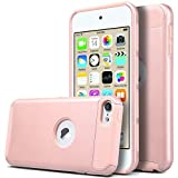 iPod Touch 6 Case, iPod Touch 5 Case, Hinpia [Seaplays] iTouch 6 Case iTouch 5 Case Hybrid Dual Layer Shockproof Case for Apple iPod Touch 6 / iPod Touch 5 6th Generation (Rose Gold/Rose Gold)