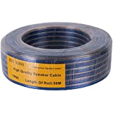 Cave Speaker & Woofer Cable Wire, Speaker Wire, (Blue & Gold, Cave83)