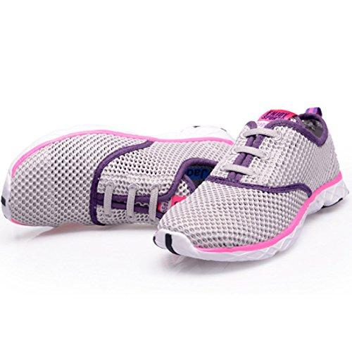 Men's Sapatos Respiravel Corrida Esportivos Homens Running Shoes Grey purple