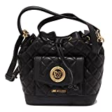 MOSCHINO 7452V borsa donna LOVE secchiello eco leather black bag woman [ONE SIZE]