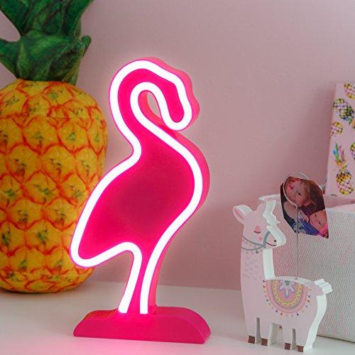 LUMILETTERS Flamingo Neonschild - super hell und tragbar LED-Lampe (Flamingo Up Pink Licht)