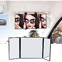 Car Makeup Sun Visor Mirror, Universal Auto/Car Makeup Folding Vanity Mirror, Cosmetic Clip On Sun-shading Mirror for Car Truck SUV Rear View Mirror by ATKKE