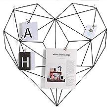 Rejilla de hierro foto decoración de la pared en forma de corazón moderno minimalista estantes nórdico