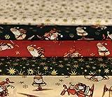 Simply Sew Crafty Stoffpaket für Weihnachten, 100%