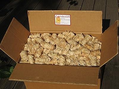 15 kg (ca. 1100 Stück) Zündwolli Anzünder aus Holzwolle und Wachs Ofenanzünder Kaminanzünder Grillanzünder Brennholzanzünder Kaminholzanzünder Holzanzünder