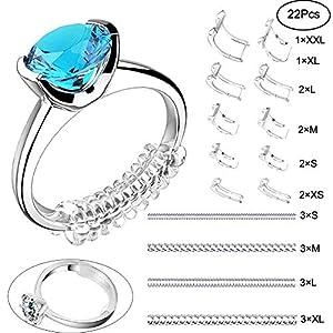 Amatt Ringschutz Ringgrößenversteller Set für lose Ringe Ringanpassung passend für alle Ringe verschiedene Größen Ringgröße 22 Packungen (ohne Ringe)