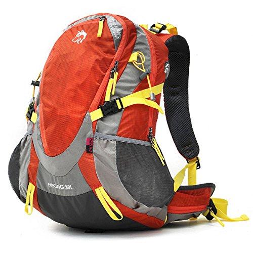 Outdoor Bergsteigen Tasche 30L Nylon Wasserdicht Camping Rucksack Mit Regt Abdeckung Orange