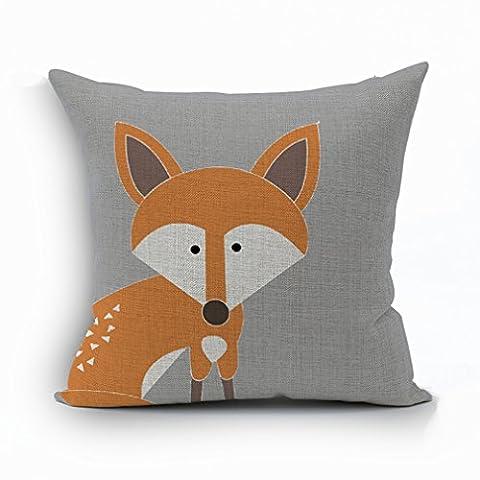 Nunubee Animal Cushion Cover Bed Pillowcase Soft Decorative Pillow Cover Fox