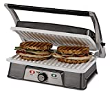 Oster-CKSTPM21WC-ECO-DuraCeramic-2-in-1-Panini-Maker-and-Grill,-White