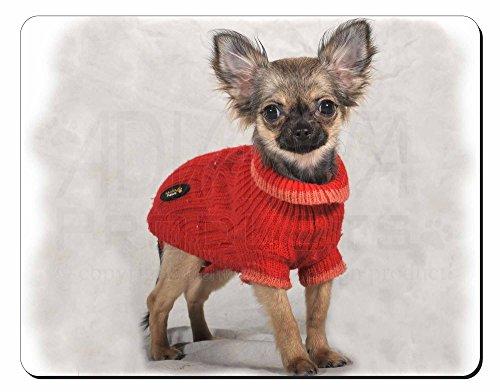 Chihuahua in Dress Computer-Maus -Matte / pad Weihnachtsgeschenk (Gekleidet Maus)