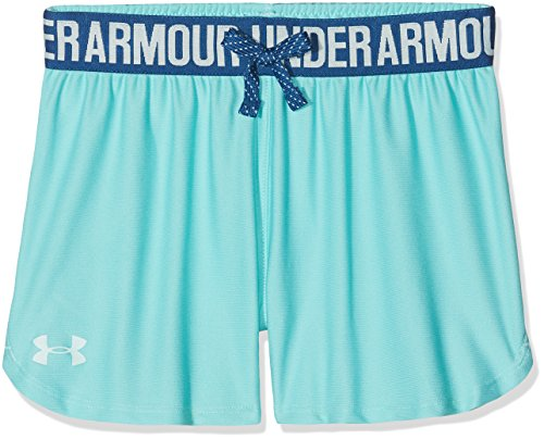 Under Armour Mädchen Play Up Short Kurze Hose, Tropical Tide, YLG